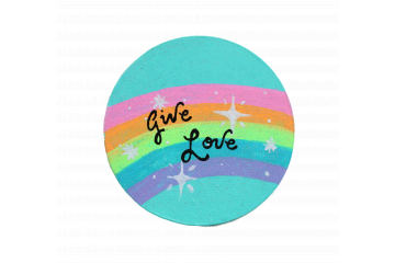 """""""Give Love"""" Handpainted Magnet"""