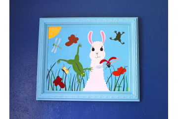 """""""Spring Makes Me Hoppy"""" Painting"""